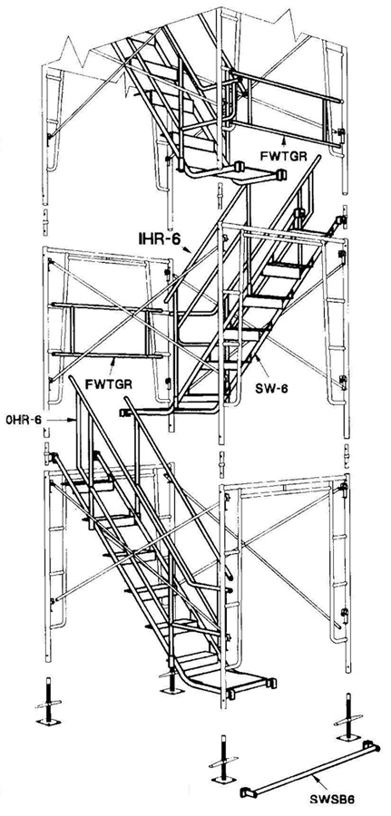 parts of a scaffolding