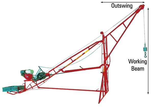 Portable Roof Hoist & High Quality TUV Approced Portable